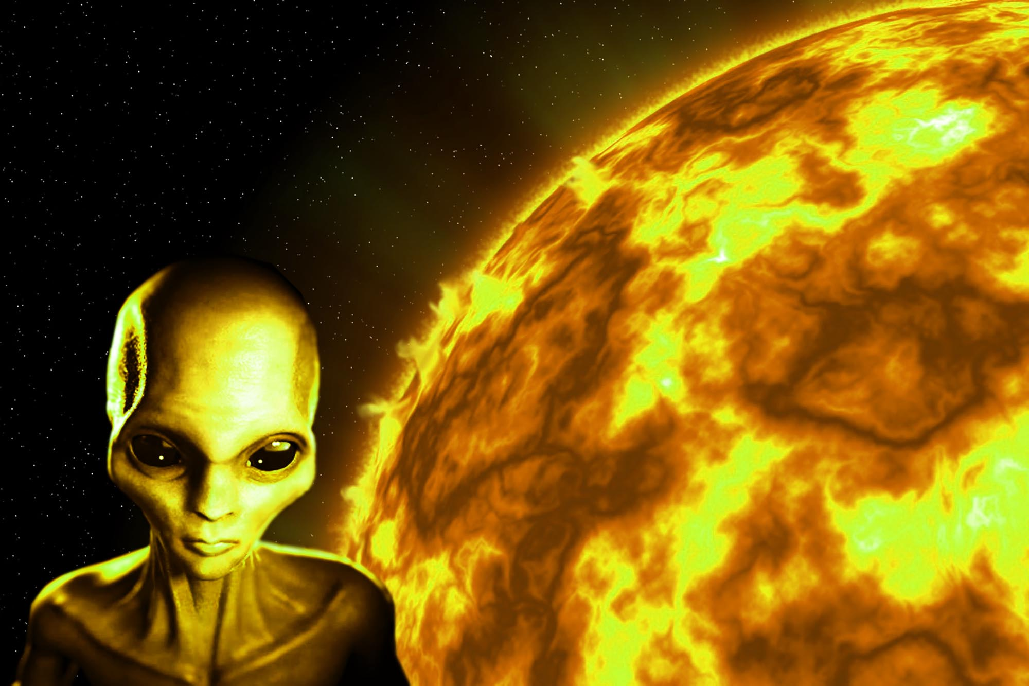 Alien UFO is Destroying The Sun Because of its Energy Aliens UFO NASA The Sun